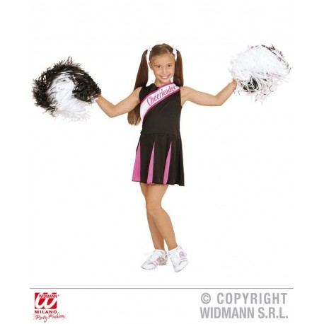 CHEERLEADER NEGRO/ROSA 8-10
