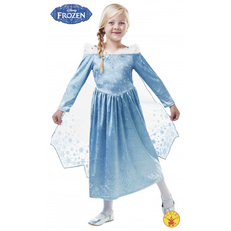 DISFRAZ ELSA DELUXE FROZEN ADVENTURE INF UK 7-9