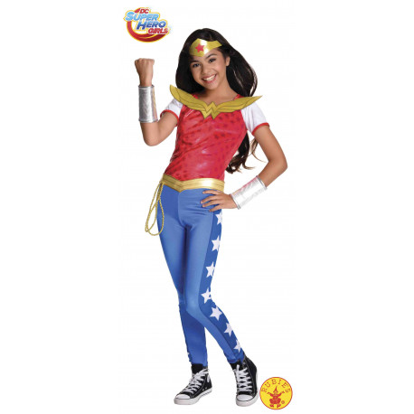 DISFRAZ WONDER WOMAN DELUXE SHG INF USA 11-13