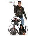 DISFRAZ GREASE chaqueta ROCK, motorista ADULTO TALLA L